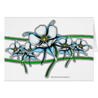 Tira de la flor de Columbine Felicitación