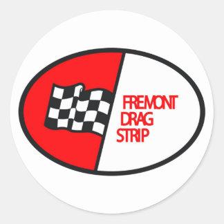 Tira de la fricción de Freemont Pegatinas Redondas