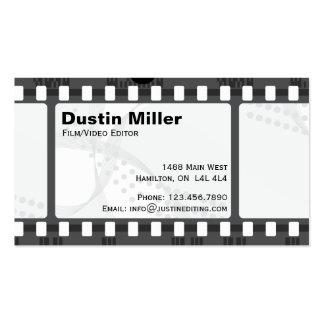 Tira de la película - blanco tarjetas de visita