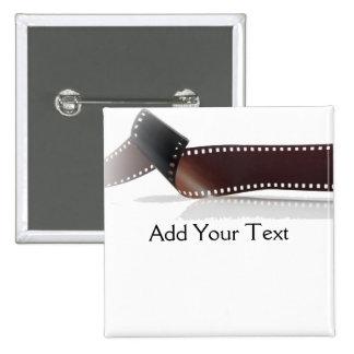Tira de la película con la reflexión en blanco pin cuadrado