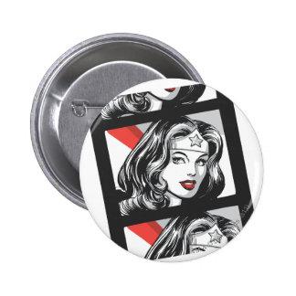 Tira de la película de la Mujer Maravilla Pin Redondo De 2 Pulgadas