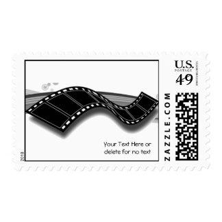 Tira de la película en fondo blanco y negro de la