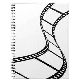 Tira de la película libretas espirales