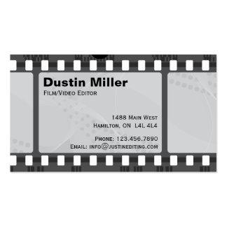 Tira de la película - negro tarjetas de visita