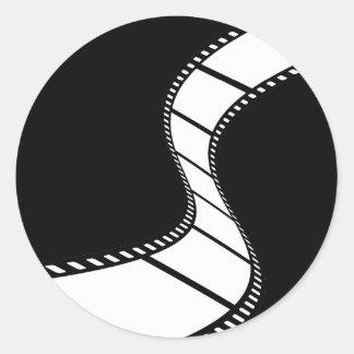 Tira de la película etiquetas redondas