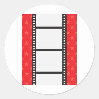 Tira de la película pegatina redonda