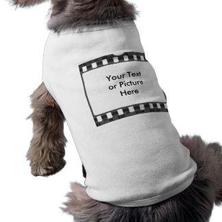 Tira de la película playera sin mangas para perro