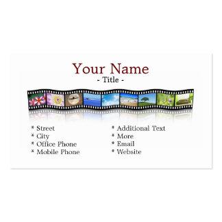 Tira de la película tarjetas de visita