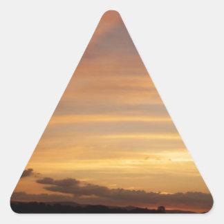 Tira de la puesta del sol calcomanías de triangulos personalizadas