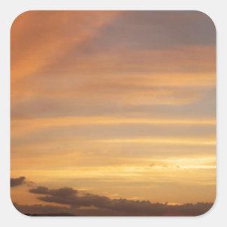 Tira de la puesta del sol calcomanías cuadradas personalizadas