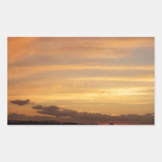 Tira de la puesta del sol rectangular altavoz