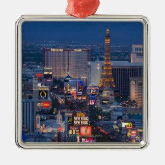 Tira de Las Vegas Adorno Cuadrado Plateado