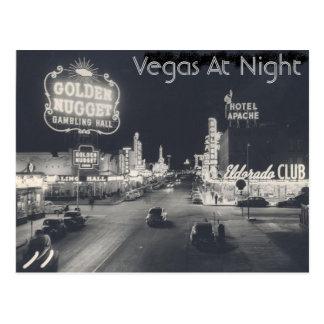 Tira de Las Vegas del vintage Postal