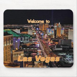 Tira de Las Vegas en la noche Alfombrilla De Ratones