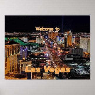 Tira de Las Vegas en la noche Póster