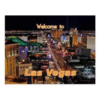 Tira de Las Vegas en la noche Tarjetas Postales