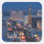 Tira de Las Vegas Calcomanía Cuadrada Personalizada
