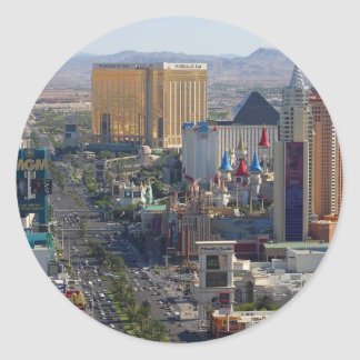 Tira de Las Vegas Etiqueta Redonda