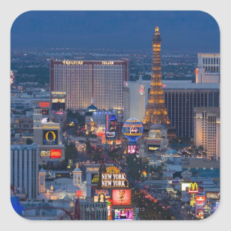 Tira de Las Vegas Pegatina Cuadrada