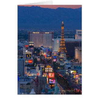 Tira de Las Vegas Tarjeta De Felicitación