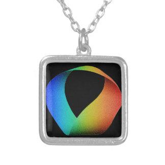Tira de Mobius del arco iris Colgante Cuadrado