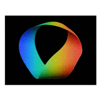 Tira de Mobius del arco iris Postales