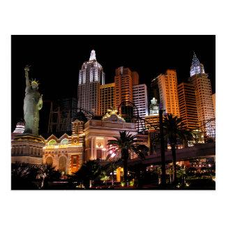Tira del casino de Las Vegas, postal de Nevada