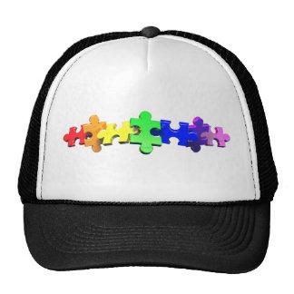Tira del rompecabezas del autismo gorras de camionero