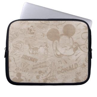 Tira descolorada retra de Mickey y de los amigos Funda Ordendadores