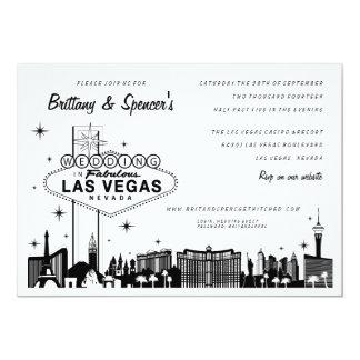 """Tira el   Las Vegas de Las Vegas que casa la Invitación 5"""" X 7"""""""