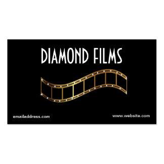 Tira metálica de la película del oro del diseño de tarjetas de visita