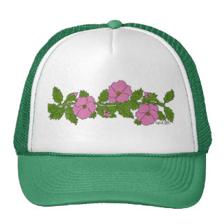 Tira salvaje de la flor de los rosas gorros