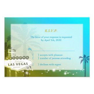 Tira tropical de Las Vegas que casa RSVP (3.5x5) Comunicado
