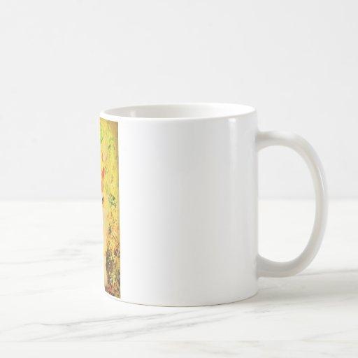 Tirada enrrollada tazas de café
