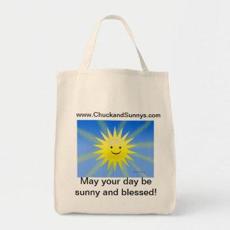 Tirada y bolso de ultramarinos soleado bolsa tela para la compra