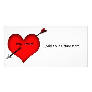 ¡Tirado a través del corazón! - Tarjeta de imagen Tarjeta Personal
