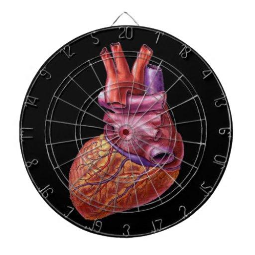 Tirado al corazón: dartboard humano del corazón tablero de dardos