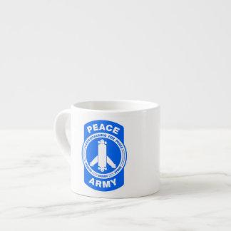 Tirado de ese ejército de la paz tazas espresso