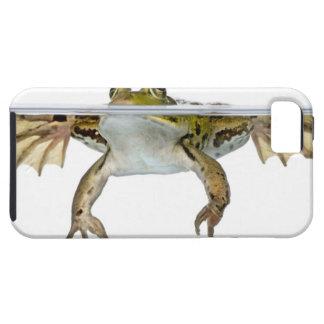 Tirado de una rana comestible que emerge delante d iPhone 5 Case-Mate protector