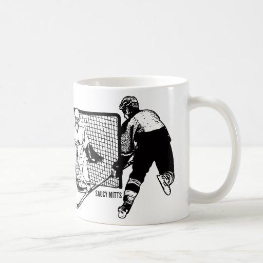Tirado en el hockey neto taza básica blanca