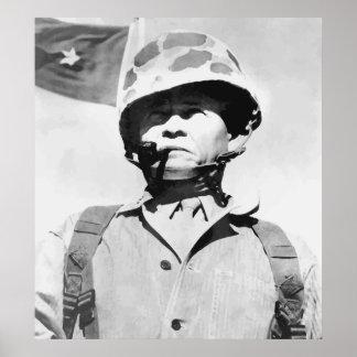 "Tirador ""arrogante"" de general Lewis Posters"