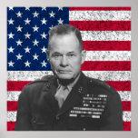 Tirador arrogante y la bandera americana impresiones