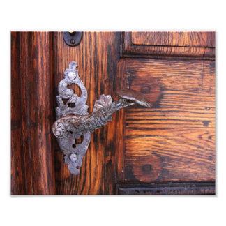 Tirador de puerta del vintage, propiedades cojinete