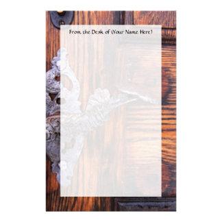 Tirador de puerta del vintage, propiedades inmobil papelería de diseño
