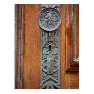 Tirador y ojo de la cerradura del Victorian Postal
