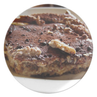 Tiramisu cake dinner plate