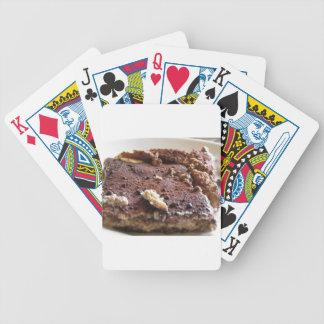 Tiramisu cake . Italian classical dessert Bicycle Playing Cards