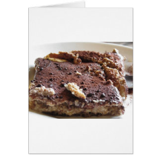 Tiramisu cake . Italian classical dessert Card