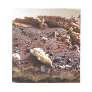 Tiramisu cake . Italian classical dessert Notepad