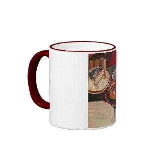 Tiramisu, Coffee and Writing Too Ringer Mug